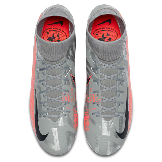 Nike Mercurial Superfly VII Academy Football Boots, Silver/Red, rebel_hi-res