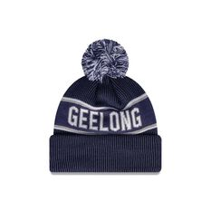 Geelong Cats New Era Supporter Beanie Navy/White OSFA, , rebel_hi-res