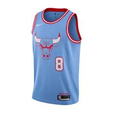 Nike Chicago Bulls Zach LaVine 2019/20 Mens City Edition Swingman Jersey Blue S, Blue, rebel_hi-res