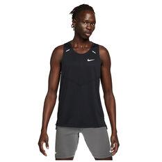 Nike Mens Dri-FIT Rise 365 Running Tank Black S, Black, rebel_hi-res