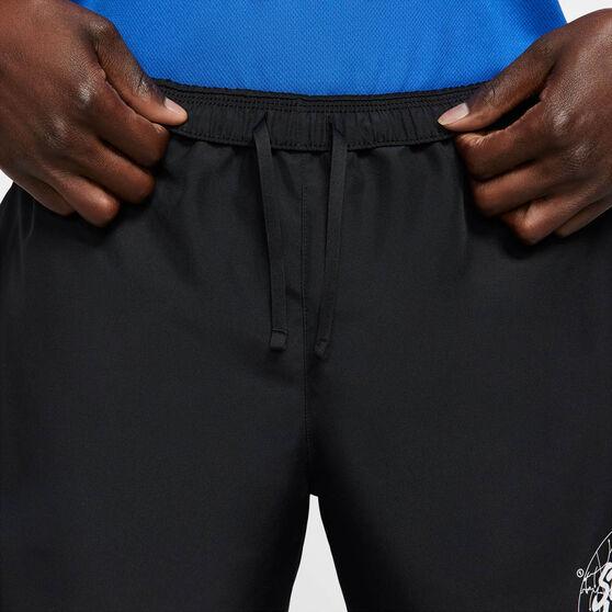 Nike Mens Challenger Wild Run Running Shorts, Black, rebel_hi-res