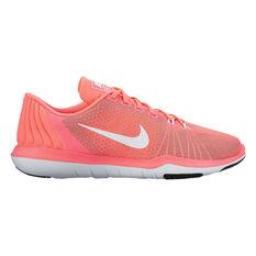 Nike Flex Supreme 5 Womens Training Shoes Orange / White US 6, Orange / White, rebel_hi-res
