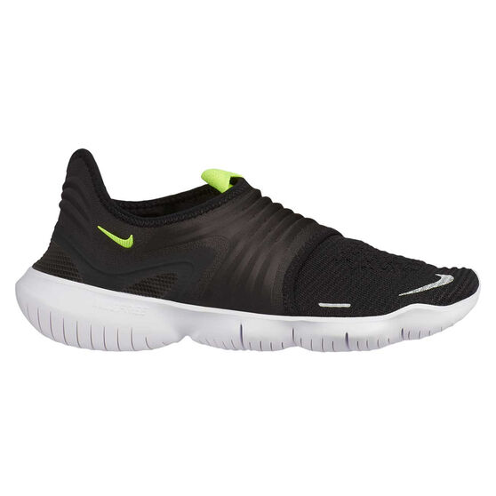 Nike Free RN Flyknit 3.0 Womens Running Shoes, Black / Yellow, rebel_hi-res