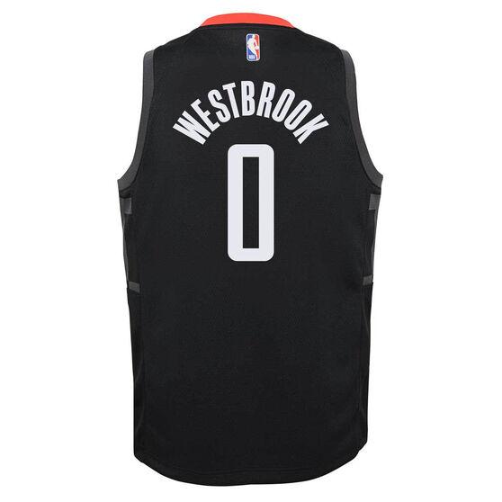 Jordan Houston Rockets Russell Westbrook 2020/21 Kids Statement Jersey Black, Black, rebel_hi-res