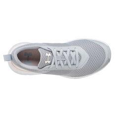 Under Armour Aura Womens Training Shoes, Grey / Orange, rebel_hi-res