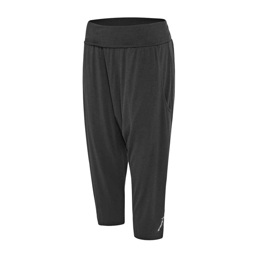 6ff9320fbfdb6 Reebok Womens Yoga Slouchy Capri Training Pants Black XS Adult, Black,  rebel_hi-res