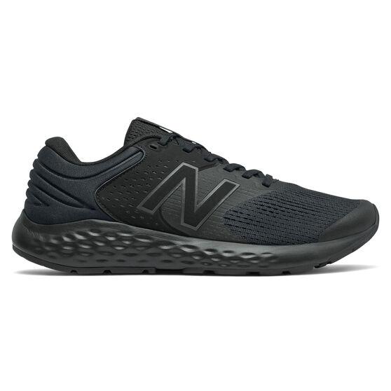 New Balance 520 v7 Mens Running Shoes, Black/Silver, rebel_hi-res