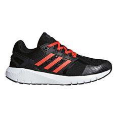 adidas Duramo 8 Boys Running Shoes Black / Red US 1, Black / Red, rebel_hi-res