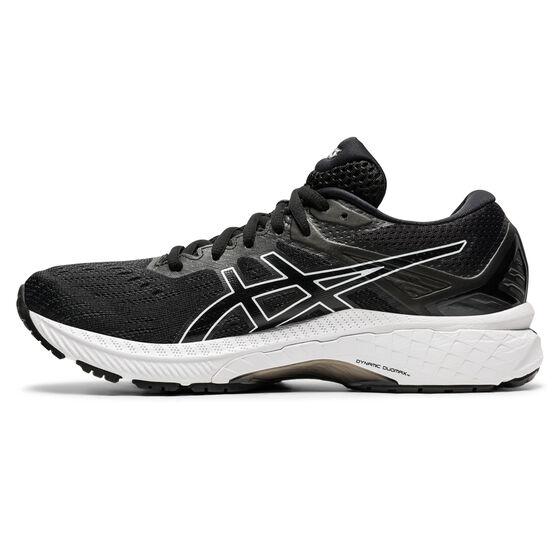 Asics GT 2000 9 Womens Running Shoes, Black/White, rebel_hi-res