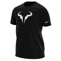 NikeCourt Mens Dri-FIT Rafa Tennis Tee Black S, Black, rebel_hi-res