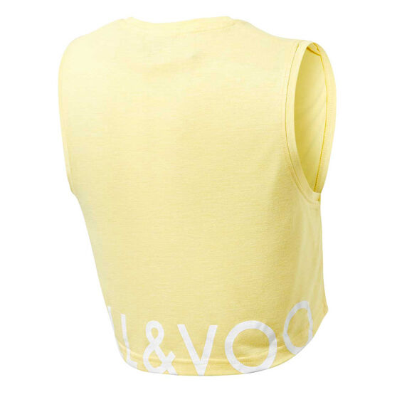 Ell & Voo Girls Rocky Cropped Muscle Tank, Yellow, rebel_hi-res