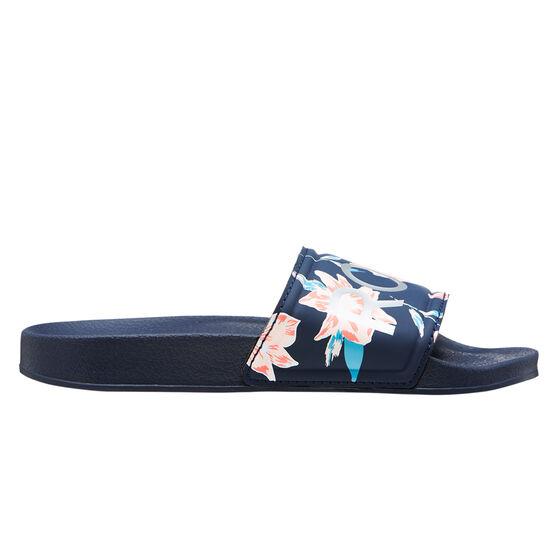 Roxy Slippy Girls Slides, Print, rebel_hi-res