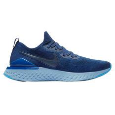 Nike Epic React Flyknit 2 Mens Running Shoes Blue / Indigo US 8, Blue / Indigo, rebel_hi-res