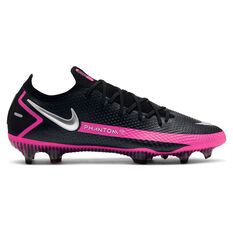 Nike Phantom GT Elite Football Boots Black/Silver US Mens 7 / Womens 8.5, Black/Silver, rebel_hi-res