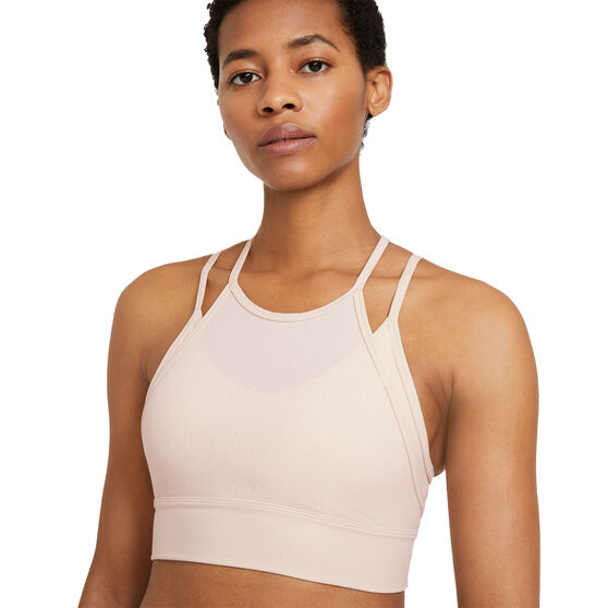 Nike Womens Yoga Dri-FIT Indy Light-Support Sports Bra, Pearl, rebel_hi-res