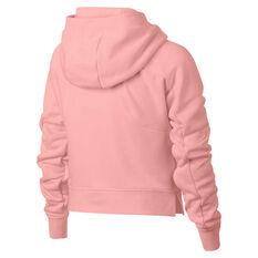 Nike Girls Sportswear Crop Hoodie Pink X S, Pink, rebel_hi-res
