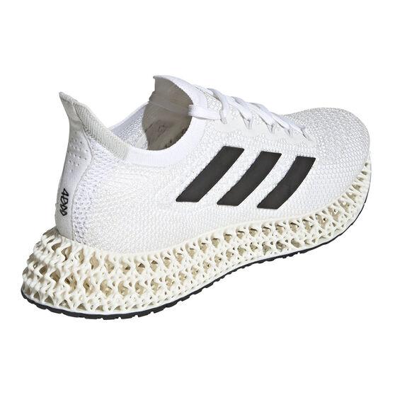 adidas 4DFWD Mens Running Shoes, White/Black, rebel_hi-res