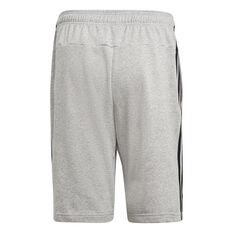 adidas Mens Essentials 3-Stripes French Terry Shorts Grey XS, Grey, rebel_hi-res