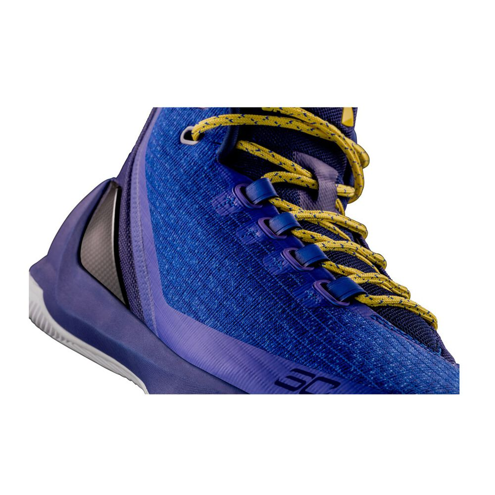 36615954fd89 ... 1269279-036 Under Armour Curry 3 Mens Basketball Shoes Blue Yellow US  10