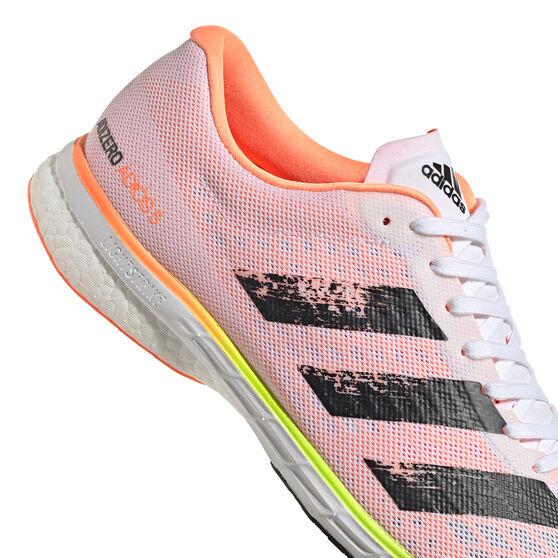 adidas Adizero Adios 5 Mens Running Shoes, White/Black, rebel_hi-res