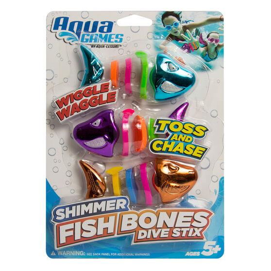 Aqua Splash Fish Bones Dive Stix, , rebel_hi-res
