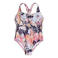 Roxy Womens Fitness One Piece Multi XS, Multi, rebel_hi-res