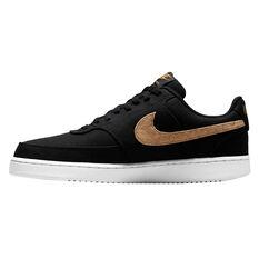 Nike Court Vision Low Canvas Mens Casual Shoes Black US 6, Black, rebel_hi-res