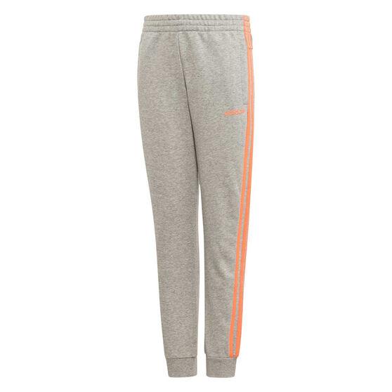 adidas Girls Essentials 3 Stripes Pants, Grey, rebel_hi-res