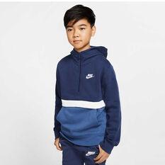 Nike Sportswear Boys Club Half Zip Hoodie, Navy/Blue, rebel_hi-res