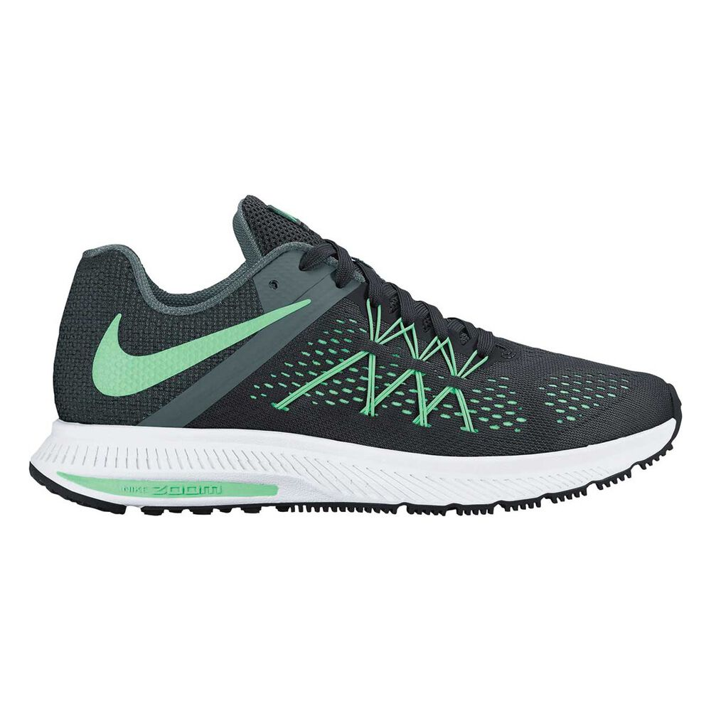 new arrival c91be ad6a0 Nike Zoom Winflo 3 Womens Running Shoes Black   White US 9.5, Black   White