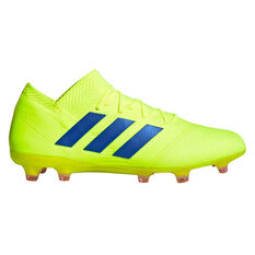 adidas Nemeziz 18.1 Mens Football Boots Yellow / Blue US Mens 10.5 / Womens 11.5, Yellow / Blue, rebel_hi-res