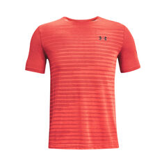 Under Armour Mens Seamless Fade Tee Red S, Red, rebel_hi-res