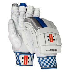 Gray Nicolls Atomic 700 Junior Cricket Batting Gloves White / Blue Youth Right Hand, White / Blue, rebel_hi-res