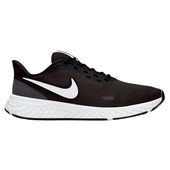 Nike Revolution 5 Womens Running Shoes, Black/White, rebel_hi-res