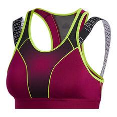 adidas Womens Don't Rest Sport Hack Sports Bra Purple XS, Purple, rebel_hi-res