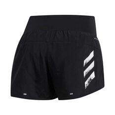 adidas Womens Run It 3-Stripes 4in Shorts Black XS, Black, rebel_hi-res