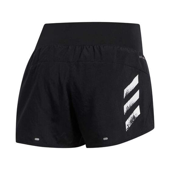 adidas Womens Run It 3-Stripes 4in Shorts, Black, rebel_hi-res