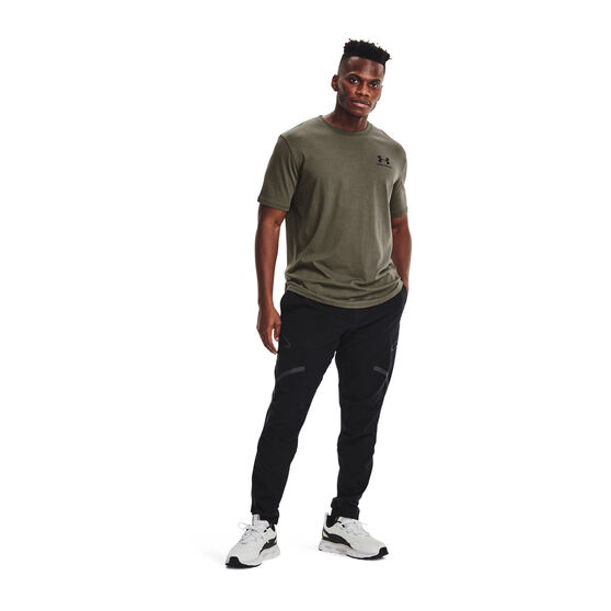 Under Armour Mens Sportstyle Left Chest Cut-Off Tee, Green, rebel_hi-res