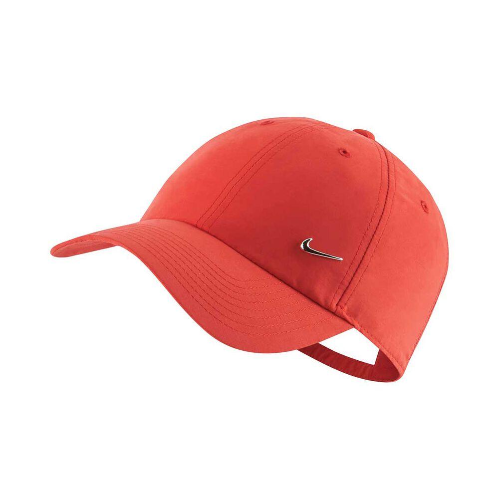 6b50fe4c2d26e Nike Sportswear Metal Swoosh Heritage 86 Cap Red   Silver OSFA ...