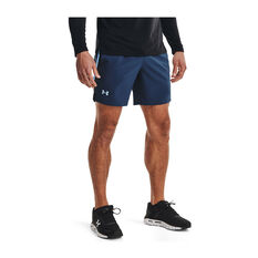 Under Armour Mens Launch 7in Running Shorts, Navy, rebel_hi-res