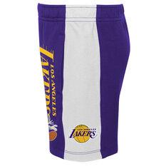Space Jam: A New Legacy x Los Angeles Lakers Kids Shorts Purple S, Purple, rebel_hi-res