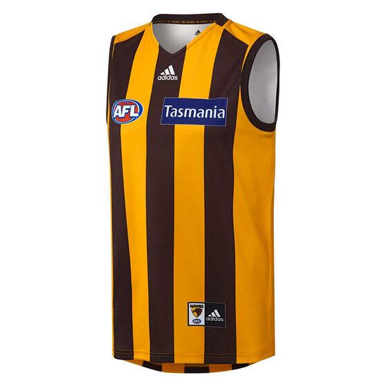 Hawthorn Hawks 2019/20 Mens Home Guernsey Yellow / Black M, Yellow / Black, rebel_hi-res