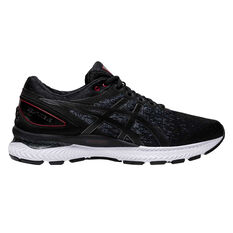 Asics GEL Nimbus 22 Knit Mens Running Shoes Black US 7, Black, rebel_hi-res