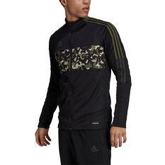 Adidas Mens Tiro Jacket Black XS, Black, rebel_hi-res