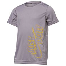 Nike Boys GFX Legacy Dri-FIT Tee Grey 4, Grey, rebel_hi-res