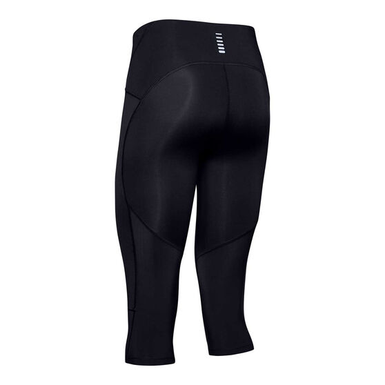 Under Armour Womens Fly Fast Capri Tights, Black, rebel_hi-res