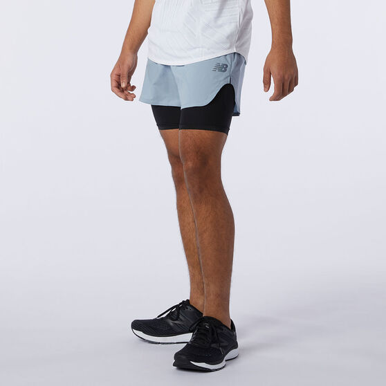 New Balance Mens Q Speed Fuel 2in1 5in Shorts, Blue, rebel_hi-res