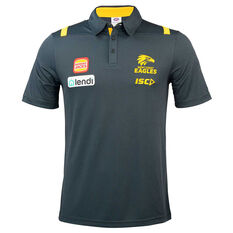West Coast Eagles 2020 Mens Performance Polo Grey S, Grey, rebel_hi-res