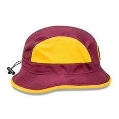 Brisbane Broncos 2021 New Era Official On Field Bucket Hat Maroon S / M, Maroon, rebel_hi-res