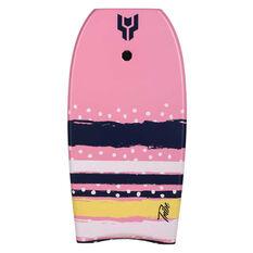 Tahwalhi Tribe Polka and Stripes Body Board 33in Pink 33in, Pink, rebel_hi-res
